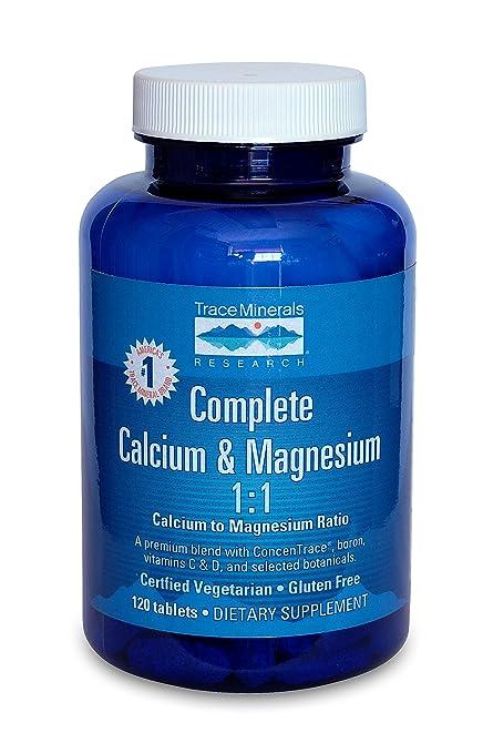 Calcio y Magnesio completa, 120 Tabletas - Investigación de Minerales Traza
