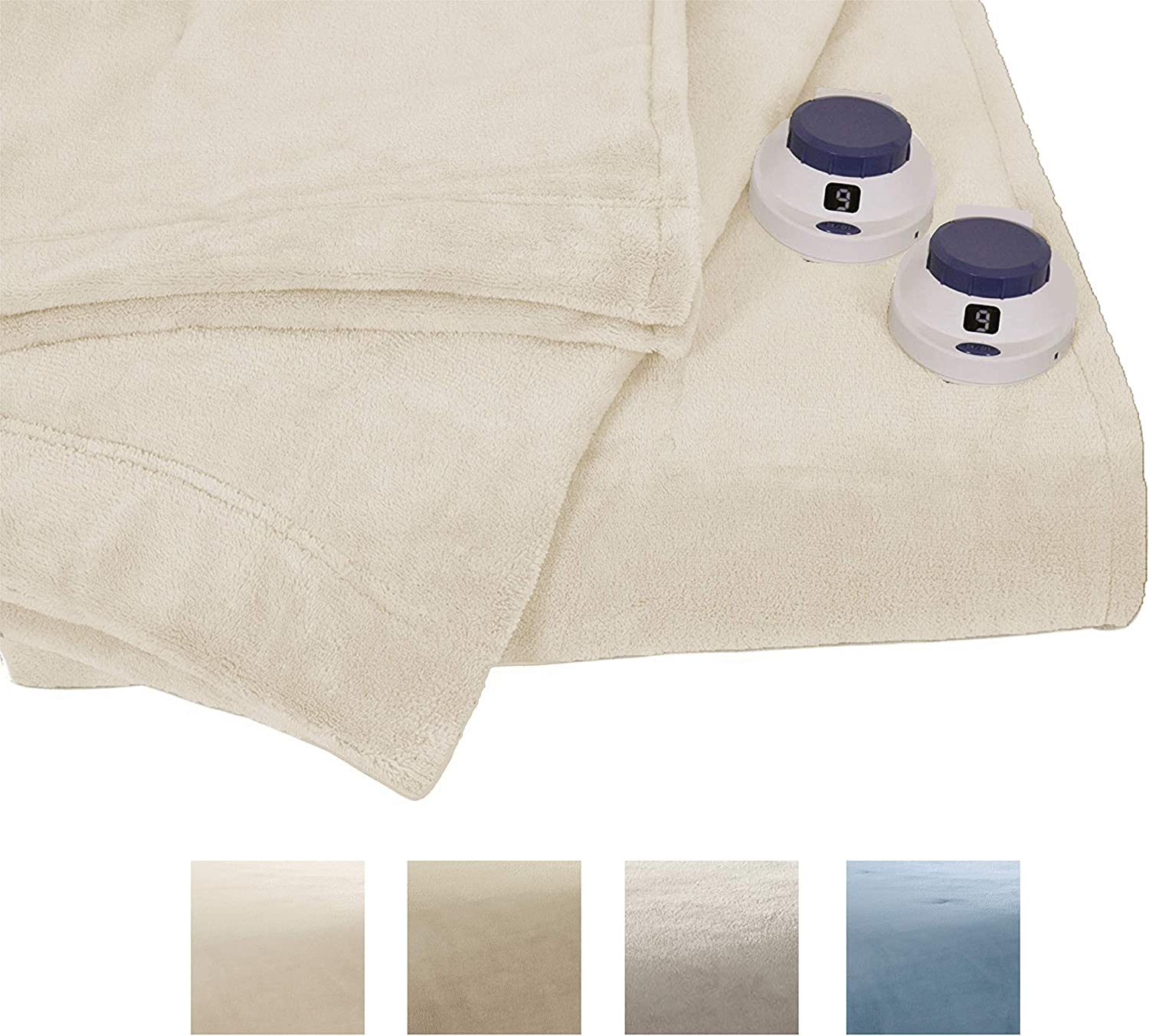 Serta | Luxe Plush Fleece Heated Electric Blanket with Safe & Warm Low-Voltage Technology Twin Cloud
