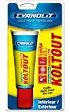 Cyanolit 33300148 Blister de mastic-colle Koltout Express Blanc 50 ml