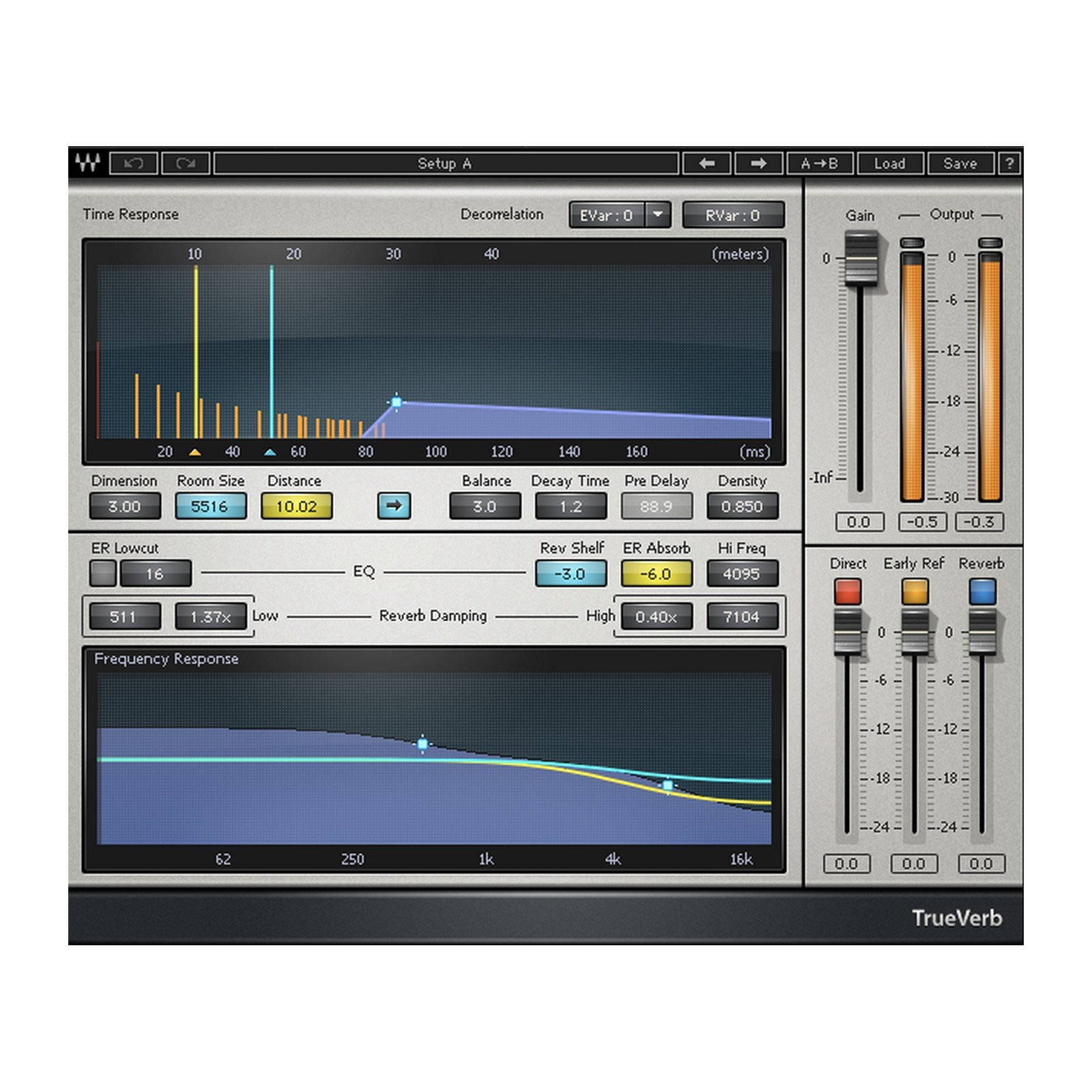 Waves TrueVerb | Graphic Interface Reverb Plugin Software Download Only by Waves