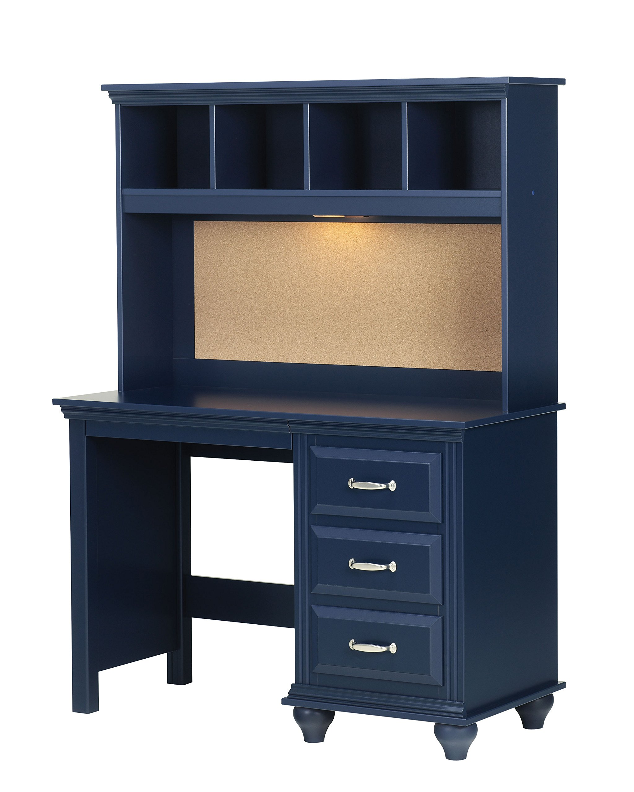 Lang Furniture Madison Desk Hutch with Light, 12 by 45 by 30-Inch, Indigo Blue