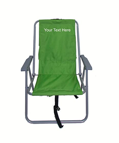 ea78ce0b81 Amazon.com : PERSONALIZED IMPRINTED Basic Backpack Chair By Rio ...