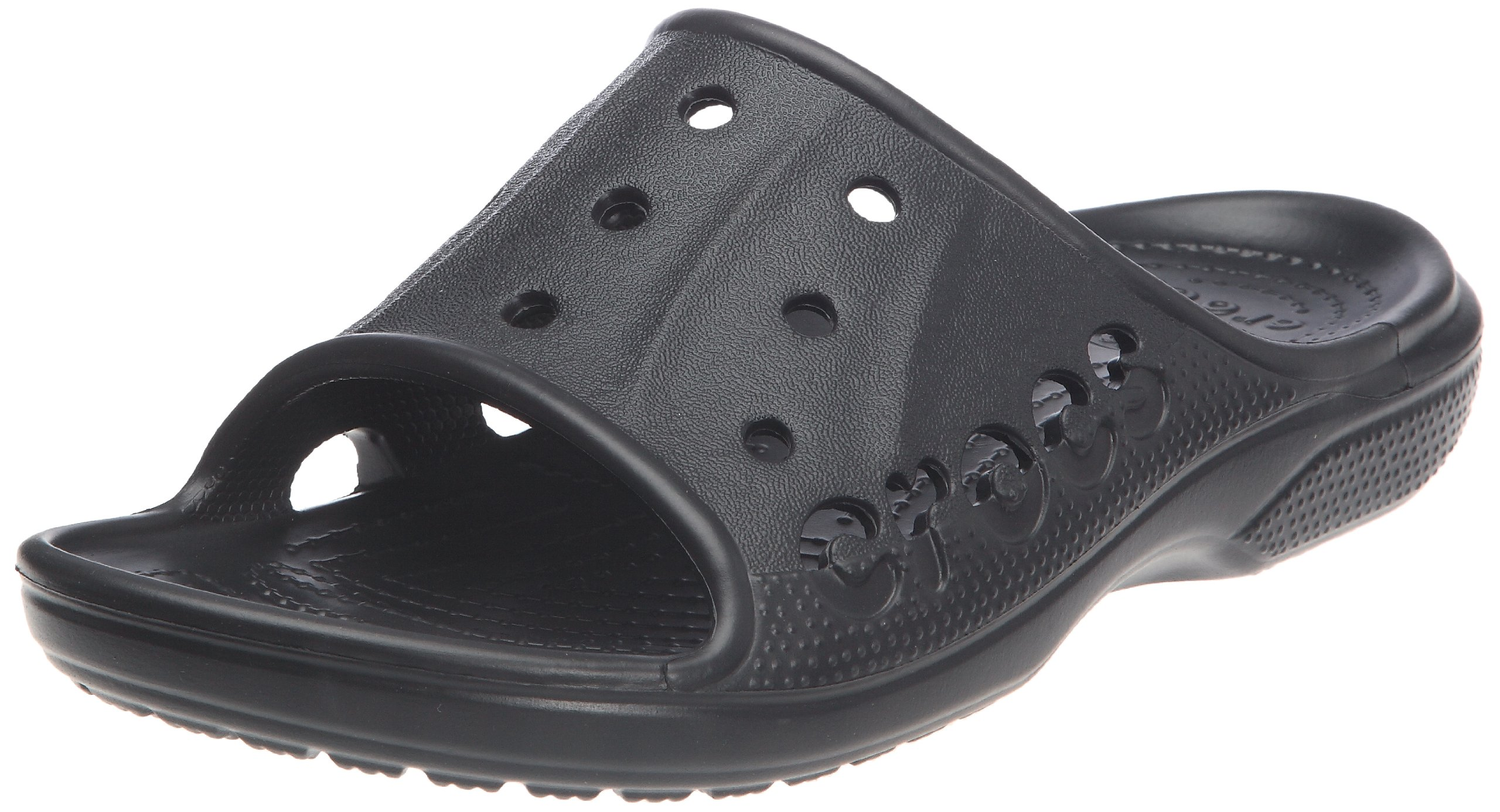 Crocs Unisex Baya Slide,Black,10 M US Men/12 M US Women