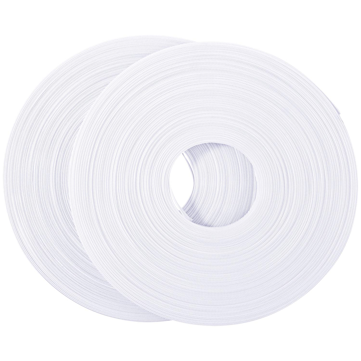 Making Corsets 2 Rolls Bridal Gowns Nursing Caps 50 Yard x 1//2 Inch Polyester Boning White Boning for Sewing