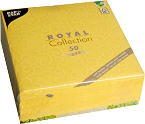 Linen Like PAPER Disposable Napkins, 50 Pack, Premium Quality, looks and feels like Cloth, Royal Collection,