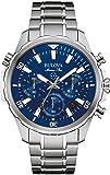 Bulova Marine Star 96B256 - Orologio cronometro design impermeabile - cinturino in acciaio inox - uomo - blu
