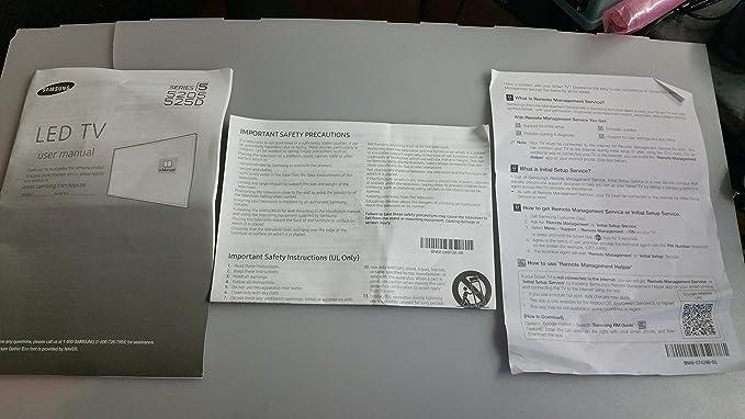 Samsung TV Manual (3pc): Amazon.es: Electrónica