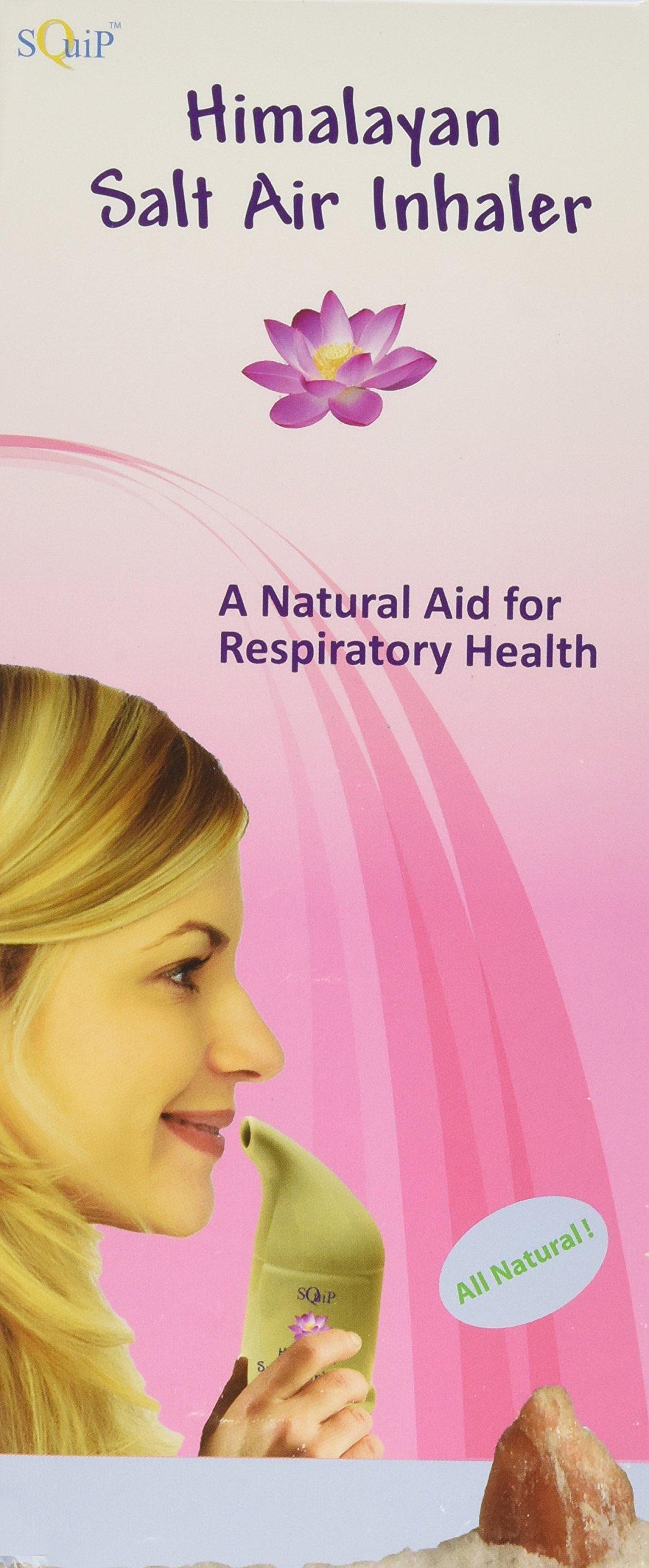 SQUIP Himalayan Crystal Salt Inhaler, Ceramic Salt Pipe, Salt Air Respiratory Help, 1 count