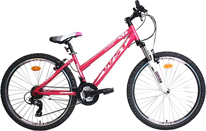 WST Cosmo Bicicleta de montaña, Mujeres, Rosa, 26