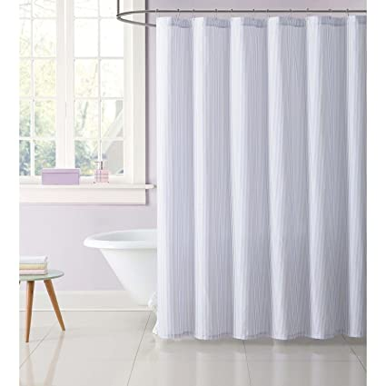 Truly Soft Everyday Printed Stripe Shower Curtain 72quot X Pink