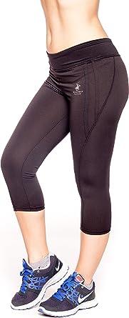 Beverly Hills Polo Club Para Mujer Active Entrenamiento Capri Pantalones De Yoga Bh240 Negro L Amazon Es Ropa Y Accesorios