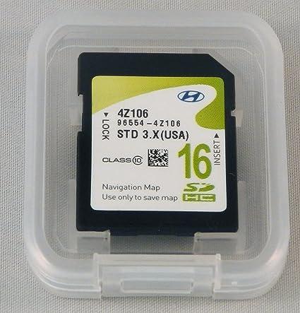 4Z106 2012 2013 2014 2015 2016 Hyundai Santa Fe (SANTAFE) Navigation MAP SD  Card,GPS,USA OEM 96554-4Z106
