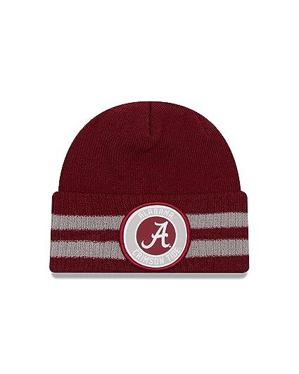 Amazon.com   New Era NCAA Alabama Crimson Tide 2 Striped Remix Cuff ... 5d1ffccedb6f