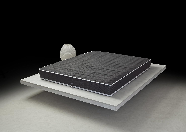 Matratze 100% LATEX BLACK LABEL, 140 x 190 cm, Unterstützung schließt/Struktur Monoblock DUNLOP Tehnologie, Atmungsaktive 7 Zonen