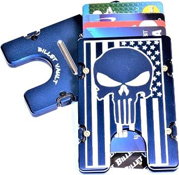 Black RFID protection Billet Aluminum Wallet//Credit card Holder American Flag