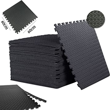 Safri interlocking gym garage anti fatigue flooring play mats