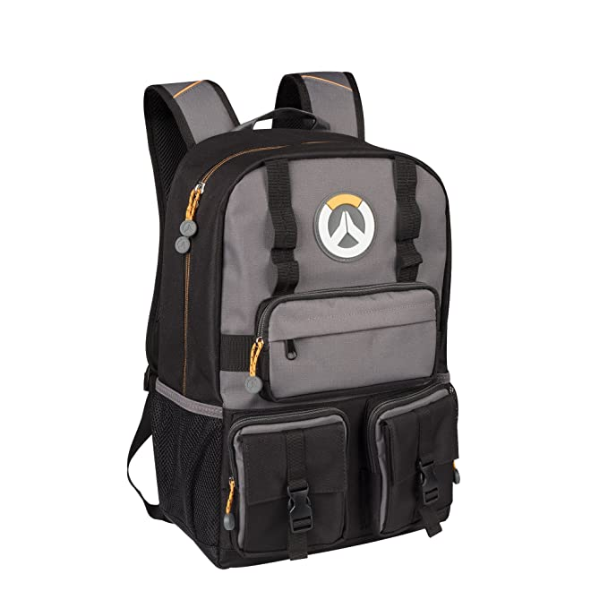 d59648d101d3 Amazon.com  JINX Overwatch MVP Laptop Backpack (Black Grey