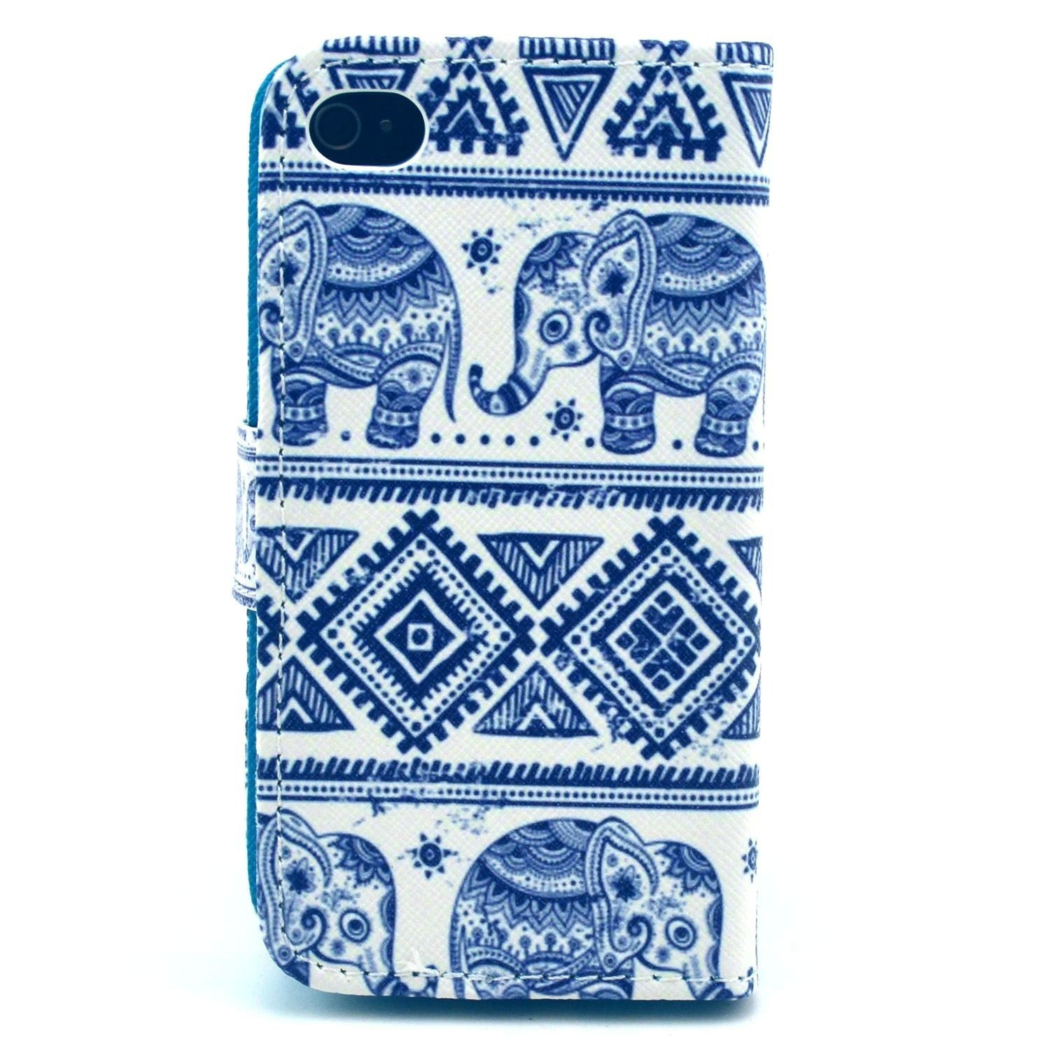 Iphone 4 Caseiphone 4s Case Welity Cute Fashion Casing Softcase Motif Owl Elephant Graphic Magnetic Snap Wallet Flip Pu Leather With Stand Cover For Apple