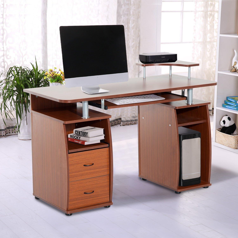 Mesa de PC Mesa de Ordenador Escritorio de Oficina Mesa con ...