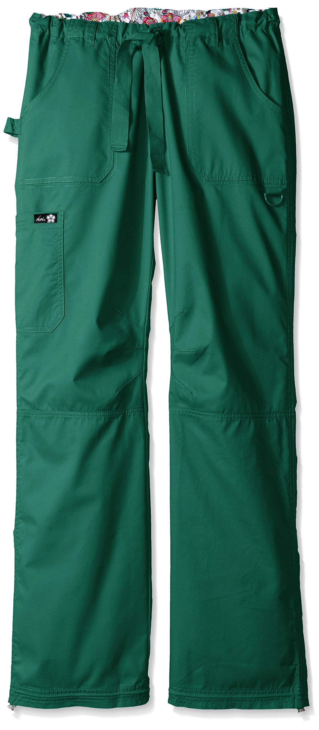 KOI Women's Tall Lindsey Ultra Comfortable Cargo Style Scrub Pants Sizes, Hunter, Medium/Tall