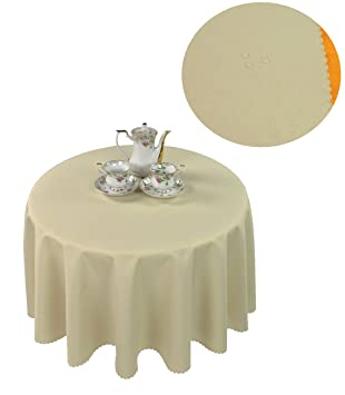 Tischdecke abwaschbar Tischläufer Gartentischdecke Leinen Optik Rechteckig