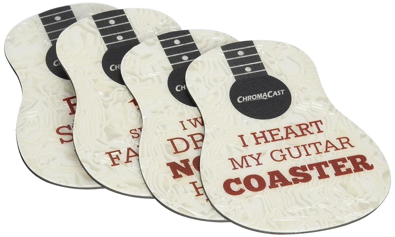 ChromaCast CC-COAST-P-4PK-KIT-1 Guitar Pick Shaped Drink Coasters, Pack 1