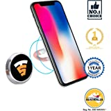 Tech Sense Lab (Australia) Multimount Magnetic Car Mobile Phone Holder, Universal Mobile Mount with one touch 360 degree rotating for Dashboard/Home/Officedesk . Compatible with all Smartphone's - iphone,Samsung,Android etc. ((Silver))