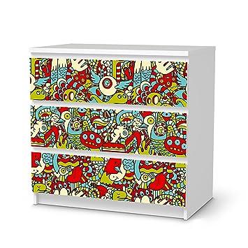 Creatisto Möbelsticker Für IKEA Malm 3 Schubladen   Einrichtungsfolie  Klebefolie Sticker Tapete Möbel Dekorieren   Home