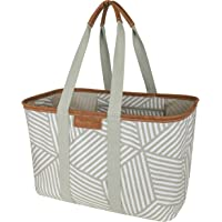 CleverMade 30L SnapBasket LUXE - Reusable Collapsible Durable Grocery Shopping Bag - Heavy Duty Large Structured Tote…