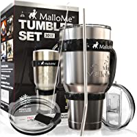 6-Piece MalloMe Stainless Steel Vacuum Insulated 30 oz Water & Coffee Cup Tumbler Travel Mug