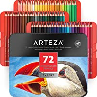 ARTEZA Professional Watercolor Pencils, Set of 72, Multi Colored Art Drawing Pencils in Bright Assorted Shades, Ideal…