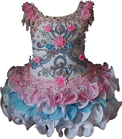 Cupcake Infant//Toddle Pageant Girls Mini Party Birthday Ball Gowns Tutu Dresses