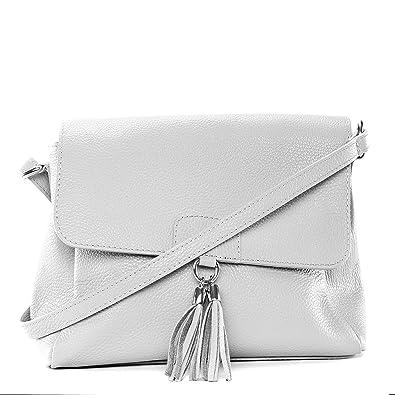 OH MY BAG SOLDES Sac à main en cuir grainé Saïgon blanc