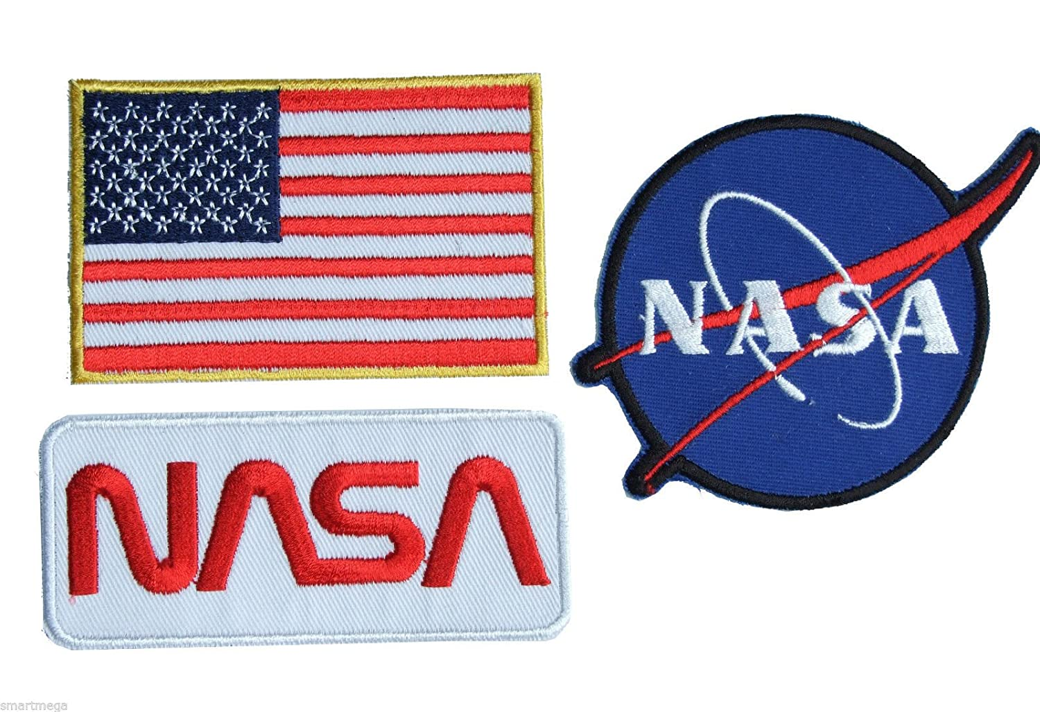parche con plancha Iron on parches bordados Set of 3/parches by onekool New Nasa Space Shuttle Pilot Iron on Patch Super Set 01