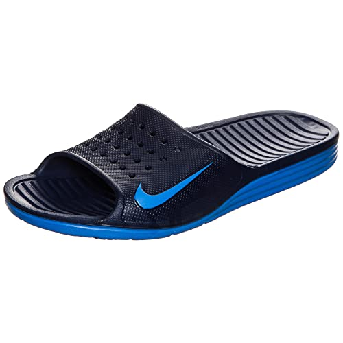 fef43cbd8139 Nike Solarsoft Slide Binary Blue Photo Blue Men s Sandals  Buy Online at  Low Prices in India - Amazon.in