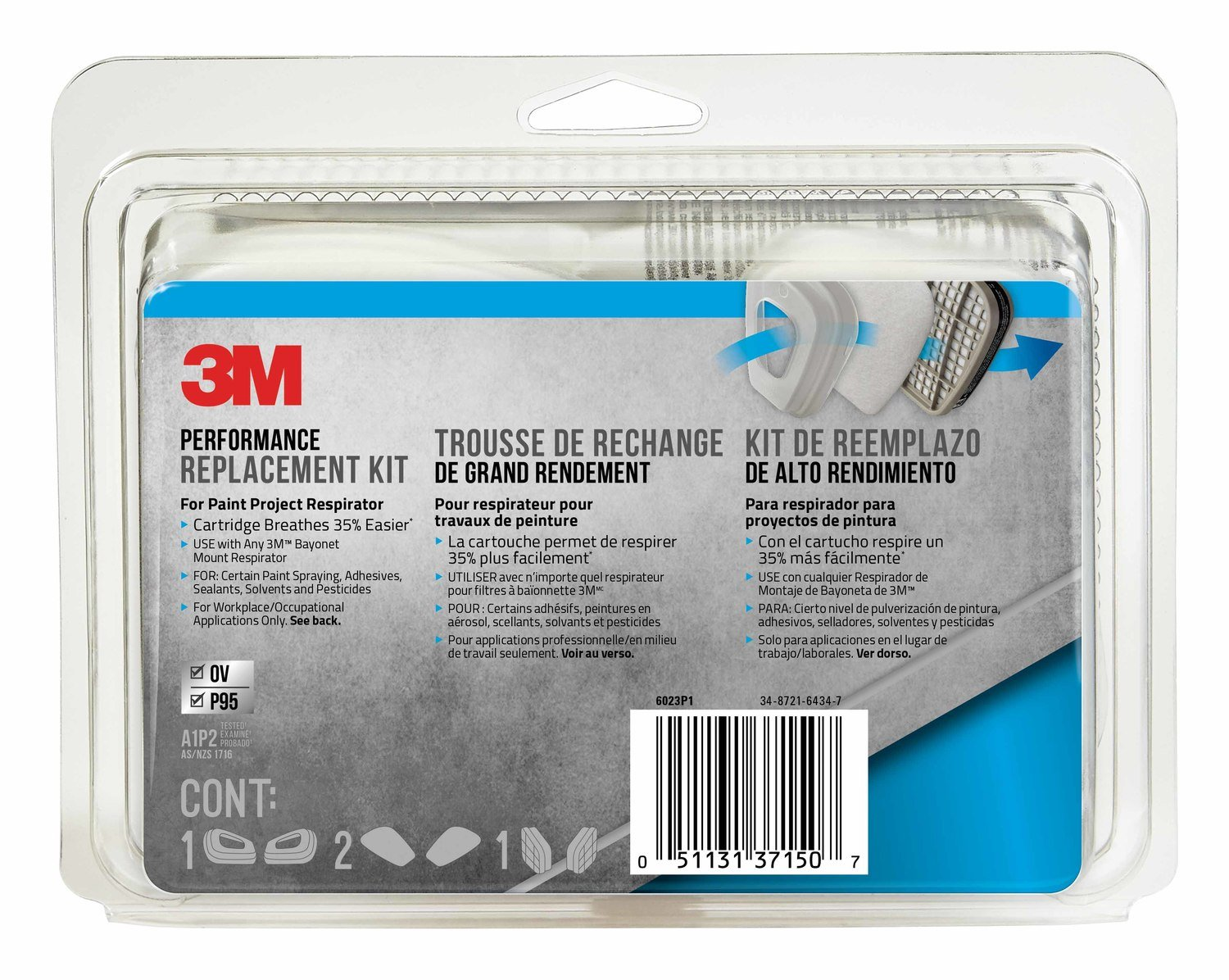 3M R6023 Paint Respirator Supply Kit by 3M Safety