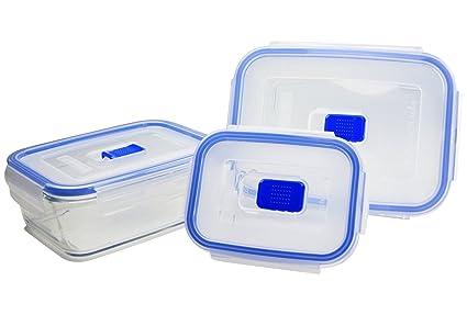 Luminarc x 3 Rectangulares Pure Box Active Set herméticos para Transporte y  conservación 9e8cf7644638