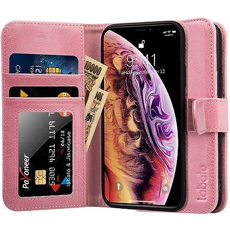 1015cc98d Labato iPhone XS ケース 手帳型 iPhone X ケース 手帳型 本革レザー TPU カード