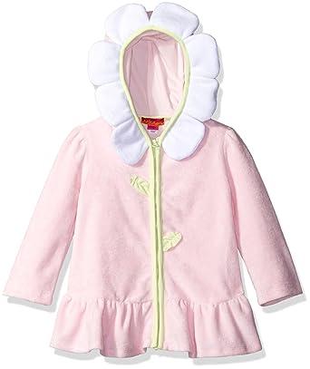 345db88de8c37 Amazon.com  Kate Mack Toddler Girls  Polka Rose Hooded Terry Coverup ...