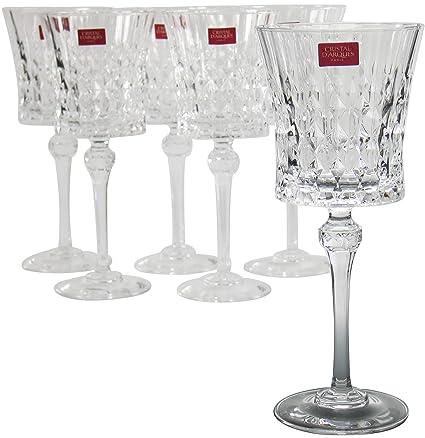 Cristal Darques Lady Diamond.Cristal D Arques Lady Diamond Goblets Set Of 6