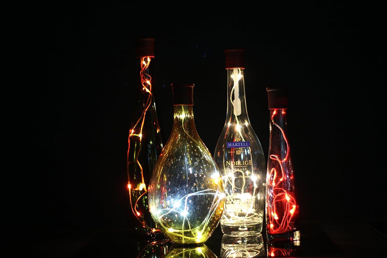 100 cm Corcho Micro Luces LED para Botella de Vino,GZQES,Luz de la Secuencia del Alambre de Cobre del Corcho,Lámpara DIY Boda de Navidad Bar Deco Regalo o ...