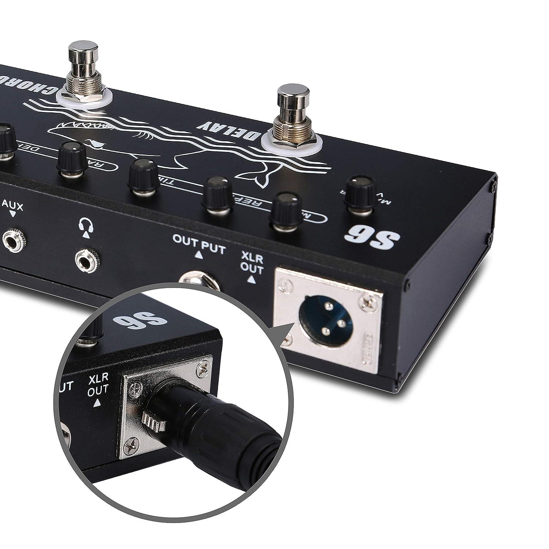 Asmuse Multi-effects Pedales para Guitarra Bajo eléctrica Distorsión Delay Chorus Effects Pedal Multifuncional de Efecto: Amazon.es: Instrumentos musicales