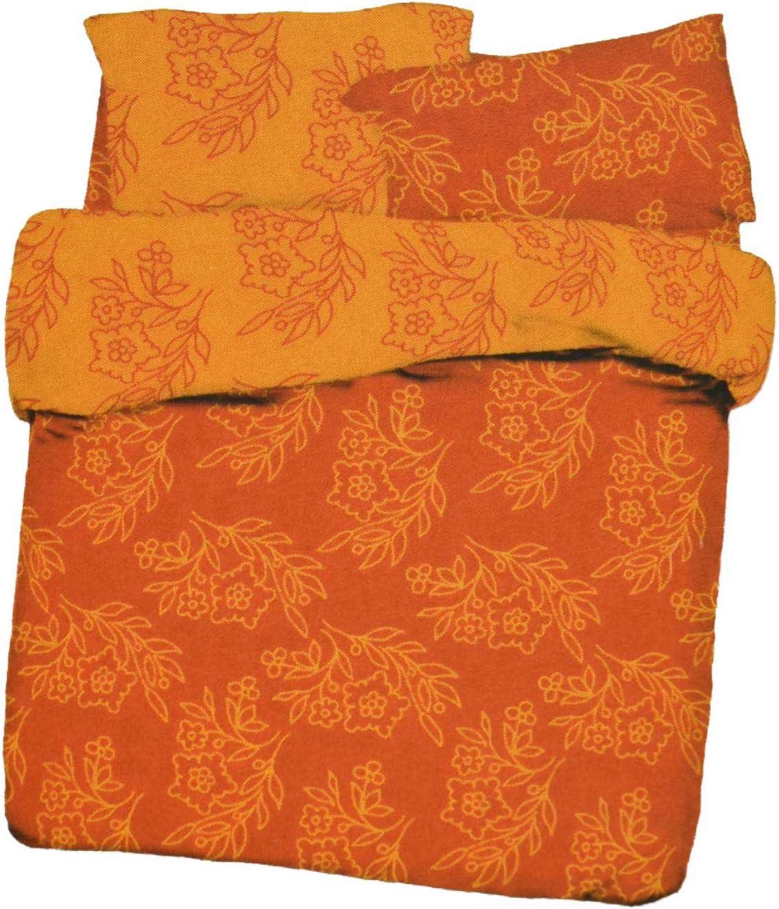 Copripiumino 155x200.Amazon Com Daunex Copripiumino Sacco Singolo Arancio Fiori