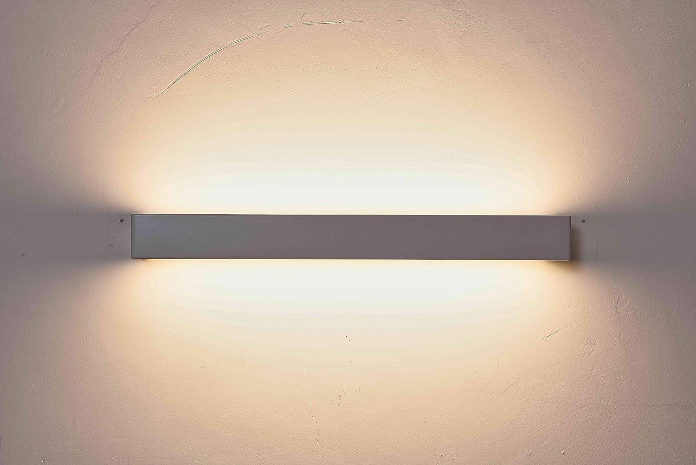 12W 3000K Satin Nickel MantoLite Square Wall Lamp 40CM Up Down Black Modern Lighting Reading Lamp Wall Sconce Fixtures,Acrylic Vanity Bathroom Mirror Light for Shelf Living Room Corridor Stairs