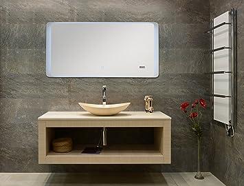 Blueline Lyon Badspiegel 100x50cm mit Bluetooth und 2 Lautsprecher