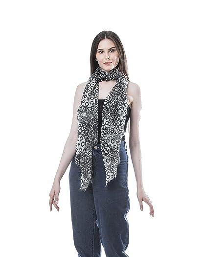 7813b89bc Ivy 100% Wool Black/White Scarf/Shawl for Evening Dresses - Bridal Womens