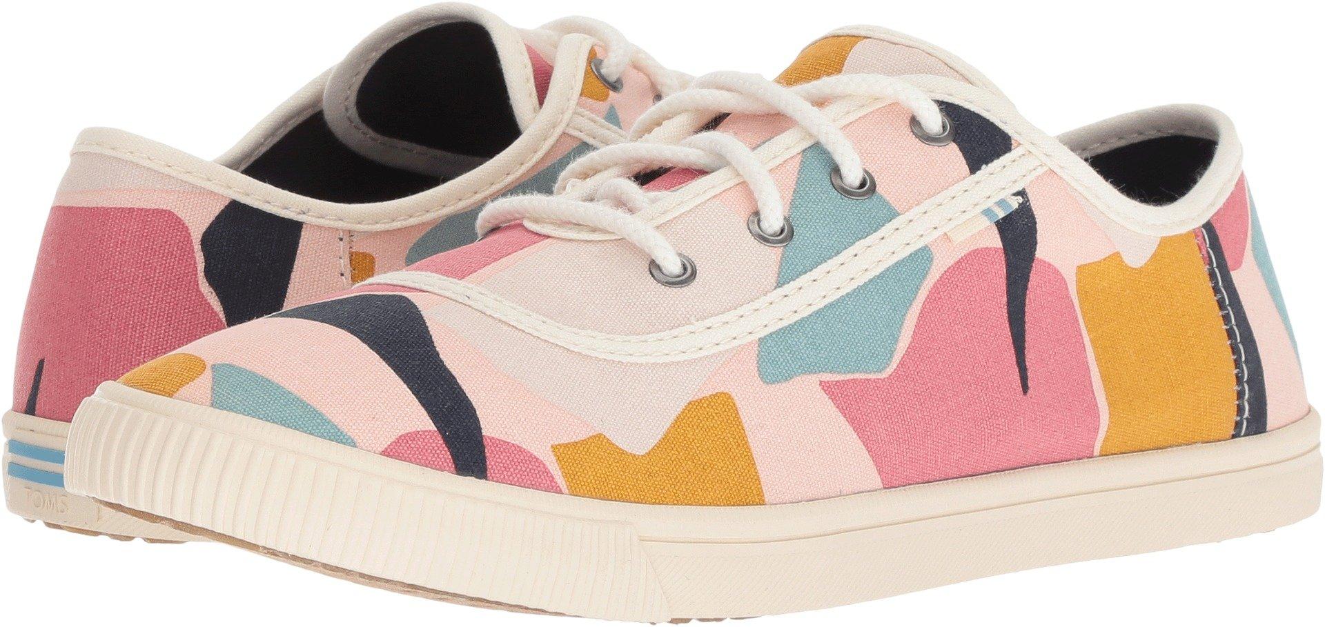 TOMS Women's Carmel Cotton Sneaker, Size: 11 B(M) US, Color Rose Glow Boulders Prt