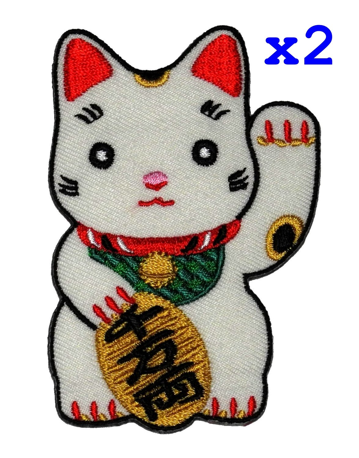 Cute Maneki-neko Japan Japanese Lucky Cat DIY Embroidered Sew Iron on Patch PA International Trading Co. Ltd 4337021550