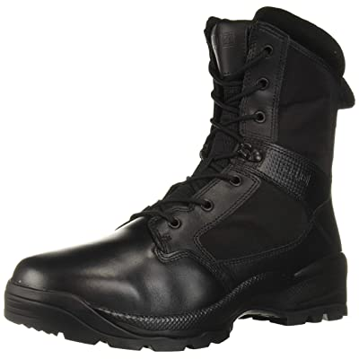 "5.11 Tactical Men's ATAC 2.0 8"" Leather Black Combat Military Side Zip Boots, Style 12391: Shoes"