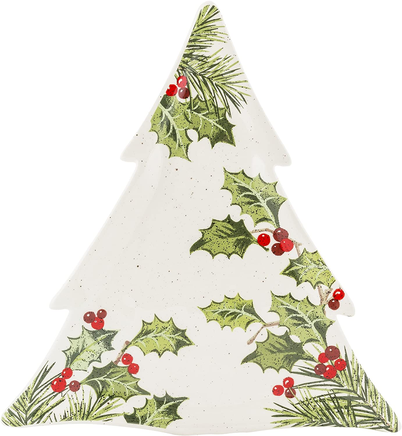 Grasslands Road Christmas Pinewood Dishwear, Tree Shape Platter